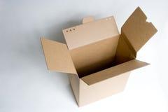 Un carton ouvert Image libre de droits