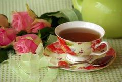 Un casquillo del té Fotos de archivo libres de regalías