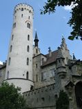 Un castello di fiaba nel Lichtenstein Fotografie Stock