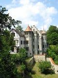 Un castello di fiaba nel Lichtenstein Fotografia Stock Libera da Diritti