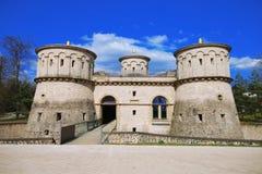 Un castello di 3 ghiandole, Lussemburgo fotografie stock