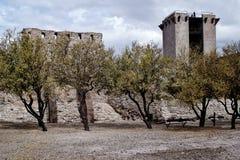 In un castello medievale Fotografia Stock Libera da Diritti