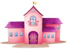 Un castello rosa Immagine Stock