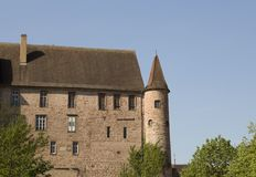 Un castillo aislado grande en el saverne, Francia imagen de archivo libre de regalías