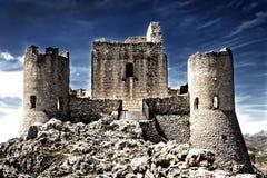 Un castillo en el cielo - Rocca Calascio - Aquila Imagen de archivo libre de regalías