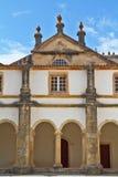 Un castillo que desmenuza Templars en Portugal Foto de archivo libre de regalías