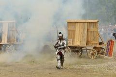 Un cavaliere è venuto a combattere. fotografie stock