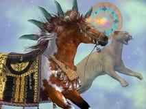 Anno del cavallo del puma Fotografia Stock