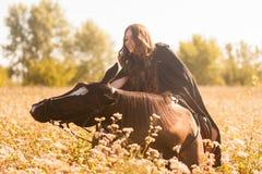 un cavallo impertinente cavallo non autorizzato fotografia stock