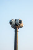 un CCTV rotondo di 4 modi Immagine Stock