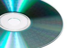Un CD isolato di dati immagini stock