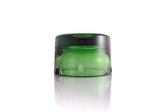 Un cenicero de cristal verde Imagen de archivo