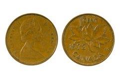 Un centavo Canadá 1968 Fotos de archivo libres de regalías