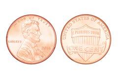 Un centavo de los E.E.U.U. aislado Imagen de archivo libre de regalías