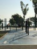 Un centro al aire libre del entrenamiento en las orillas de Odessa, Ucrania Imágenes de archivo libres de regalías