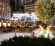 Un centro festivo di Rockefeller Fotografia Stock Libera da Diritti