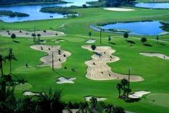 Un centro turístico del campo de golf Foto de archivo libre de regalías
