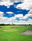 Un centro turístico del campo de golf Imagen de archivo libre de regalías