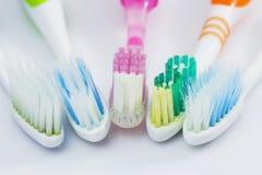 Un cepillo de dientes viejo fotografía de archivo libre de regalías