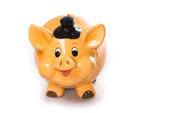 Un cerdo para salvar su dinero Imágenes de archivo libres de regalías