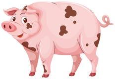 Un cerdo sucio del fango ilustración del vector