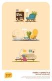 Un certain ensemble de meubles Images libres de droits
