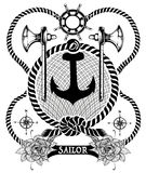 Éléments de marin illustration de vecteur