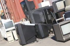 Un certi monitor del computer e TV di riciclaggio Fotografia Stock