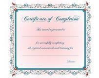Un certificato dell'annata Immagini Stock