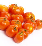 Un certo numero di pomodori. Fotografia Stock Libera da Diritti