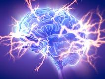 Un cerveau rougeoyant Photographie stock libre de droits