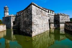 Un château colonial espagnol à vieille La Havane images libres de droits