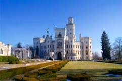 Un château de conte de fées en hiver photo libre de droits