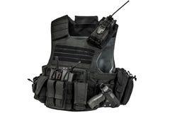 Un chaleco a prueba de balas hecho de tela de alta tecnología con aprisa conecta fotos de archivo libres de regalías