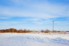 Un champ dans la région d'Orenbourg de la Russie Images stock
