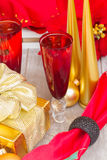 Un champagne di 2012 Natali Immagine Stock
