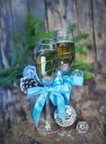 Un champagne di 2012 Natali Fotografie Stock Libere da Diritti
