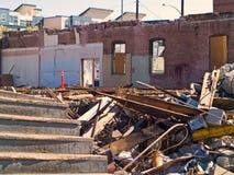 Un chantier de démolition Images stock