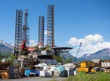 Un chantier naval encombré au seward Image libre de droits