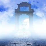 Un Chanukah Menorah sul fondo di arte royalty illustrazione gratis