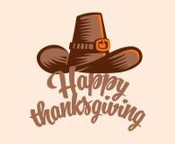Un chapeau de vintage pour le thanksgiving illustration libre de droits