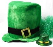 Un chapeau pour le jour de rue Patricks Photos libres de droits