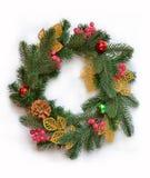 Un chapelet nouveau an de Noël Photographie stock