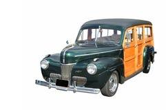Un chariot de gare boisé classique Photos libres de droits