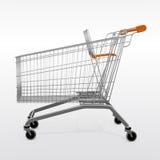 Un chariot vide de chariot à achats Photos stock