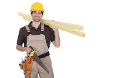 Un charpentier. image libre de droits