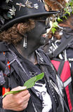 Un charriot chez Jack dans le festival vert Photo libre de droits