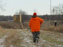 Un chasseur de cerfs communs du Minnesota Photos libres de droits