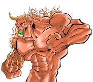 Un chasseur de démon illustration de vecteur