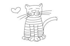 Un chat de détroit illustration stock